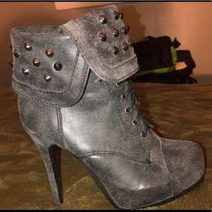 boots/heels with studded detailing